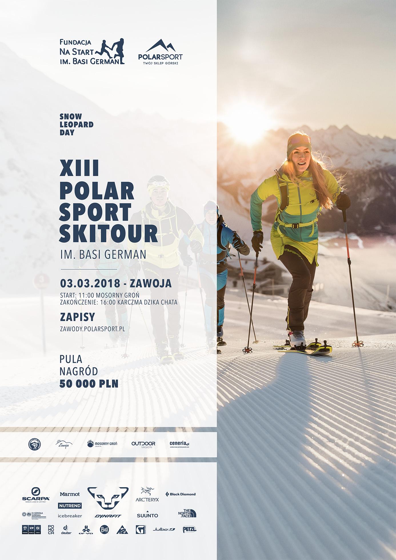 plakat XIII polar sport skitour FIN